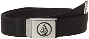 Volcom Circle Web Belt - Cinturón para hombre negro negro Talla:talla única