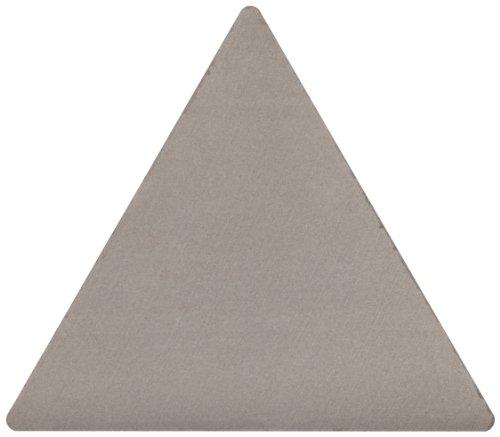 Sandvik Coromant TPG 321 H10A H10A Grade, Uncoated, Triangle Shape, Flat Top Chip Breaker, 321 Insert Size, 0.125