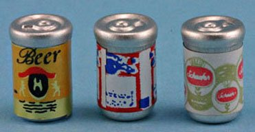 Dollhouse BEER CANS - 1