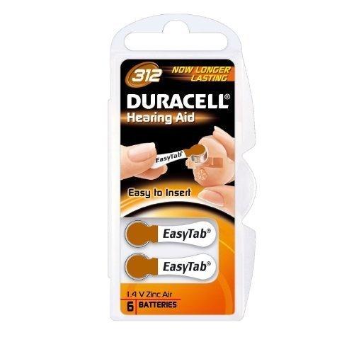 Duracell easytab/activair type 312 zinc air p312 pR41 zL3 lot de 30