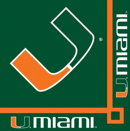 Creative Converting Miami Hurricanes Beverage Napkins (20 Count)