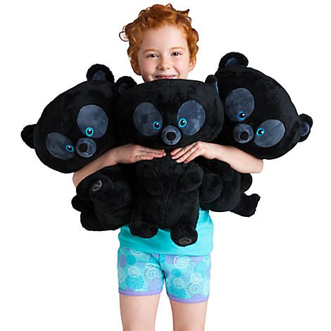Disney BRAVE 3 Large Plush Bear Cubs Triplets-
