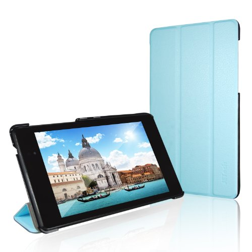 Nexus 7 Case, JETech® Gold Slim-Fit Smart Case Cover for Google Nexus 7 2013 Tablet w/Stand and Auto Sleep/Wake Function (Blue) (Nexus 7 Case Blue compare prices)