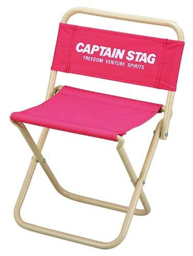 キャプテンスタッグ チェア パレット レジャー チェア 中 ピンク M-3926