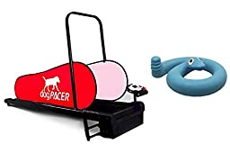 DogPacer Dog Treadmill with Blue Springy Snake Toy