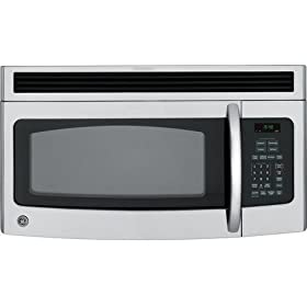 GE Spacemaker JNM1541SPSS 1.5 cu. ft. Over-the-Range Microwave Oven with 300 CFM Venting System, 950 Cooking Watts, Auto/Time Defrost and Non-Vented Installation: Stainless Steel
