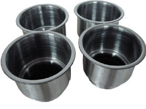 Amarine-made 4pcs Stainless Steel Cup Drink Holder with Drain Marine Boat Rv Camper primary