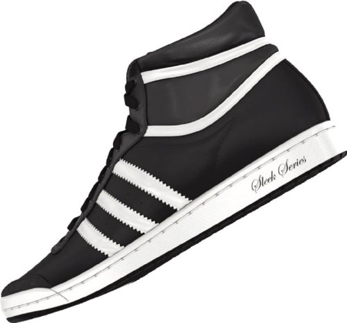 adidas Adidas Top Ten Hi Sleek W Black/White Athletic Shoes Women's 10