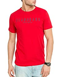 Elaborado Mens Round Neck Tshirt - Red - S - ECOR0501RE1