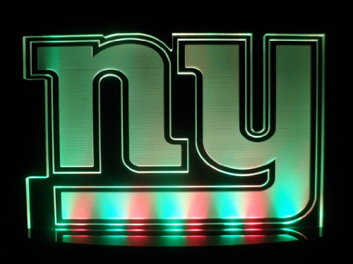 "Nfl New York Giants Football Led Desk Lamp Night Light Beer Bar Bedroom Game Room Signs (3""X12""X7 Inches)"