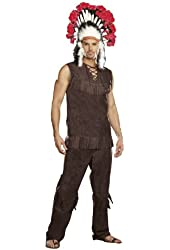 Indian Chief Long Arrow Adult Costume