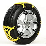 XYZCTEM®Easy To Install Car Snow Tire Chains,Fits for Tire Width 165mm-265mm-Set of 6