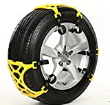 XYZCTEM®Easy To Install Snow Tire Chains/Anti Slip Chains,Fit for Most Car/SUV/Truck/ATV-Set of 6