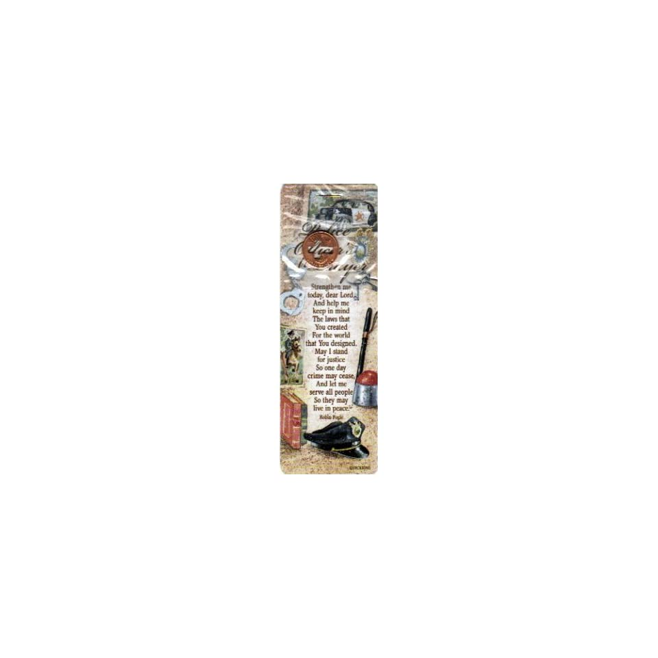 Police Officers Prayer/Bookmark Cross coin