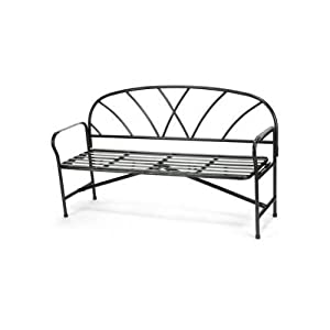 Amazon.com: Achla Lawn & Garden Patio Decor Black Wrought Iron ...