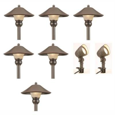Low-Voltage LED Bronze Outdoor Light Kit (8-Pack) (Hampton Bay Lighting Outdoor compare prices)