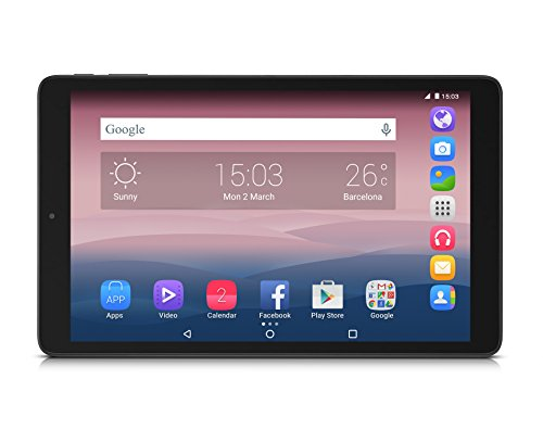 "Alcatel One Touch Pixi3 Tablet, Display IPS TFT da 10"", Risoluzione 1280x800, Processore Quad Core da 1.3 Ghz, RAM da 1 GB, HDD da 8 GB, Nero"