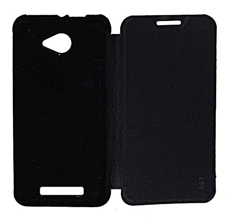 VJS Flip Cover For Lava A67  Black  available at Amazon for Rs.199