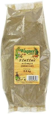Wagner Gewürze Pfeffer schwarz gemahlen, 1er Pack (1 x 500 g) von Wagner Gewürze bei Gewürze Shop