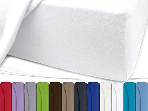 Jersey-Spannbetttuch-in-unseren-besten-Farben-aus-100-Baumwolle-in-5-Gren-erhltlich-120-x-200-cm-wei