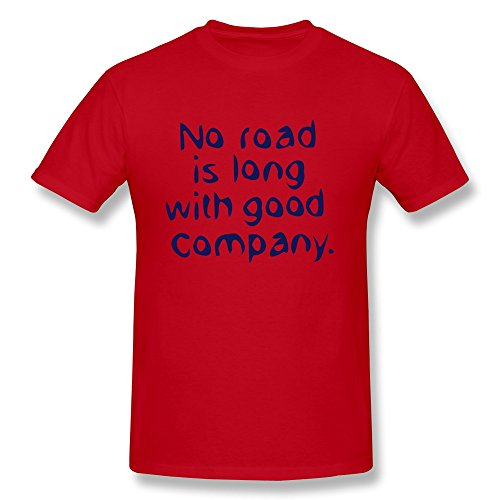 No Road Long Good Company Men Fitted Blanket T Shirt - Ultra Cotton front-231497
