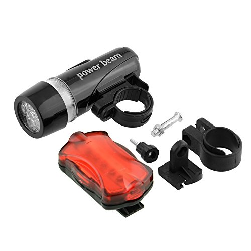 {Factory Direct Sale} Waterproof 5 Led Bright Fog Night Day Lamp Torch Road Mountain Bike Bicycle Mtb Front Head Lights Rear Tail Safety Flashlight Set