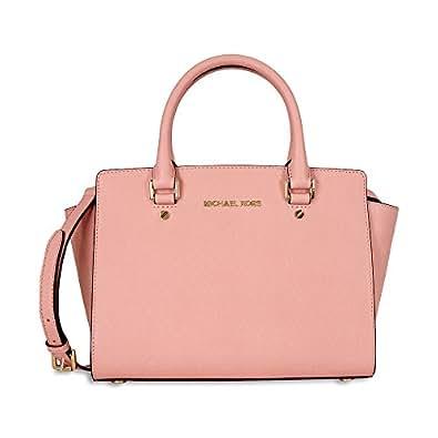 7ddd1043586331 MICHAEL KORS Selma Saffiano Leather Medium Satchel PALE PINK: Handbags:  www.jumpstreet.