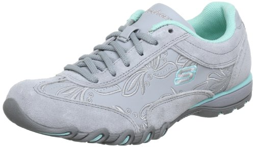 Skechers Women's Speedster-Nottingham Grey Suede/Aqua Trim Comfort Lace Ups 99999478 4 UK