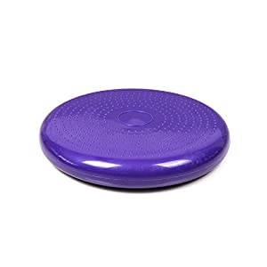 TSSS® Round Inflated Yoga Cushion Massage Mat Inflatable Round Indoor Exercise Pad Gym Plate Non Slip Pilates Mat Purple