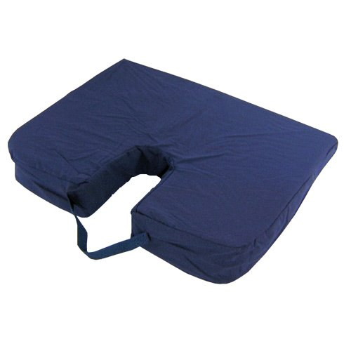 Mabis Seat Mate Sloping Coccyx Cushion - Mabis Seat Mate Sloping Coccyx Cushion - 7938 front-764521