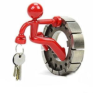 Novelty Wall Climbing Strong Magnetic Man Style Keyring Set Holder