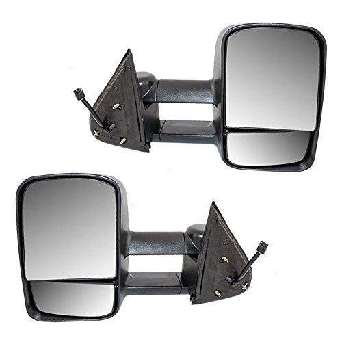 Driver and Passenger Power Tow Side Mirrors Replacement for Chevrolet GMC Cadillac Pickup Truck SUV GM1320411 GM1321411 (2007 Chevy Silverado Tow Mirrors compare prices)