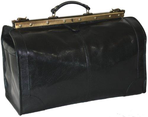 DELARA Reisetasche Arzttasche Leder schwarz