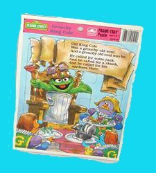 Sesame Street Grouchy King Cole Frame-Tray Puzzle - 1