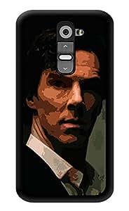 "Humor Gang Serious Sherlock Printed Designer Mobile Back Cover For ""LG G2"" (3D, Glossy, Premium Quality Snap On Case)"