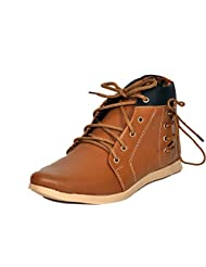 Shoe Mate Tan Synthetic Leather Casual Shoes