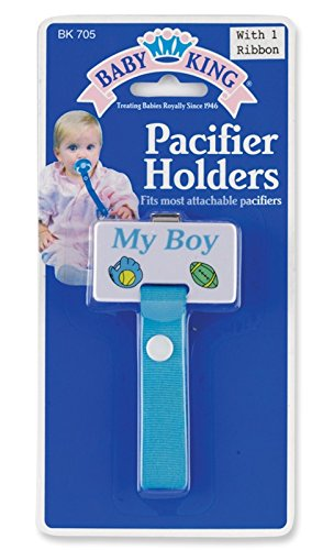 My Boy Blue Pacifier Holder - 1