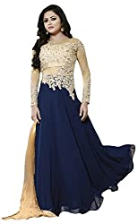 Sitaram creation womans long flared gown with dupatta.