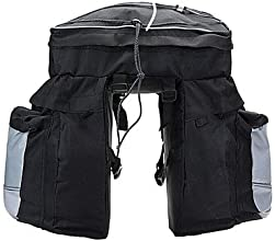 Cycling Bag Shelf Package Bike Panniers Rear with Rain Cover