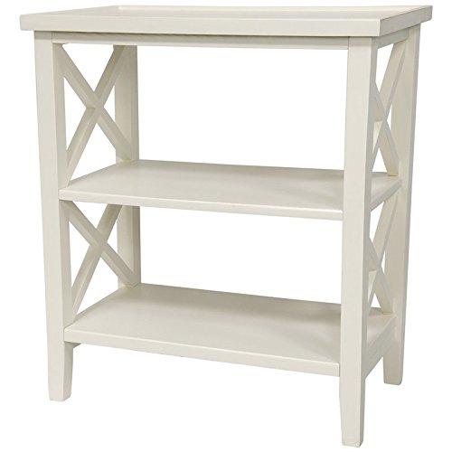 "Oriental Furniture 26"" Architectural Book Case Table - White"