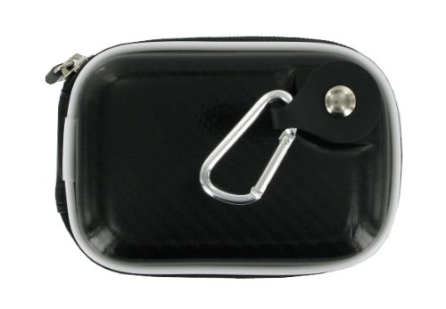 rooCASE EVA Hard Shell (Candy Licorice Black) Carrying Case with Memory Foam for Panasonic Lumix DMC-FX78 Digital Camera