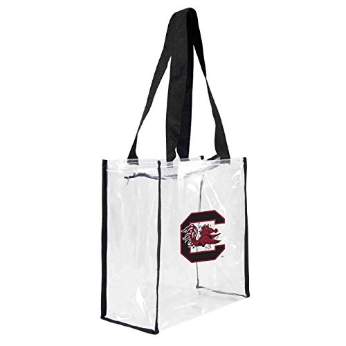 ncaa-south-carolina-fighting-gamecocks-square-stadium-tote-115-x-55-x-115-inch-clear-by-littlearth