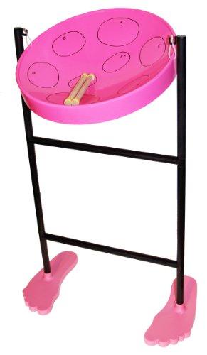 Jumbie Jam Steel Drum Musical Instrument, Pink (Steel Pan Case compare prices)