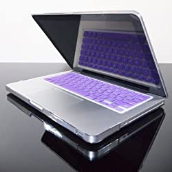 TopCase® PURPLE Keyboard Silicone Cover Skin for Macbook 13