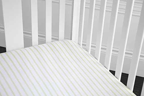 GUND Babygund Herringbone Deluxe 300 Thread Count Crib Sheet, Herringbone - Golly Grey, 28'' By 52''