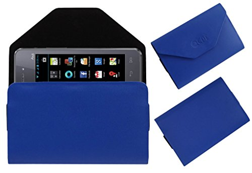 Acm Premium Pouch Case For Iball Andi 4a Projector Flip Flap Cover Holder Blue  available at amazon for Rs.179