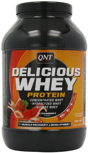 QNT Delicious 100% Whey Protein 1000 g Strawberry Growth and Recovery Shake Powder
