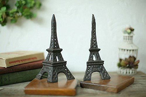 OliaDesign Cast Iron Eiffel Tower Bookends