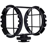 "Movo SMM2 Camera Shoe Shockmount for Shotgun Microphones 1"" to 2"" in Diameter (Fits the Zoom H1)"
