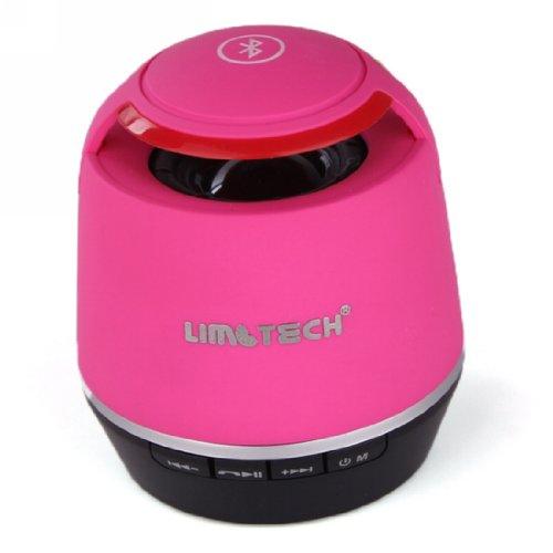 Limtech® B3 Jambox Style Mini Bluetooh Speaker With Rechargeable Battery Wireless Bluetooth Speaker With Handsfree Mic (Pink)